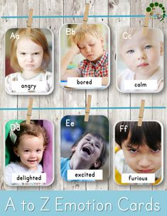 A to Z Emotions Montessori Nature | ABC Emotions and Feelings Cards for Toddlers and Preschoolers