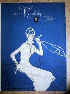 1964 Kimberly Knit Wool Women's Clothing Fashion Ad | eBay