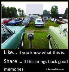 We entertained ourselves by piling into our truck and driving to a Drive-in Theater. Double features were common. My Childhood Memories, Great Memories, School Memories, Childhood Movies, Childhood Photos, Puerto Rico, Drive In Movie Theater, Forget, Photo Vintage