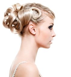 Formal Updo with Blonde Hair