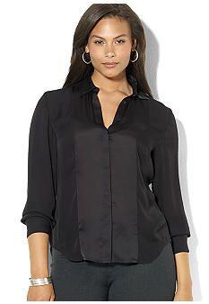 Lauren Ralph Lauren Plus Size Long-Sleeved Silk Blouse Shirt Blouses, Shirts, Ralph Lauren, Plus Size, Women's Fashion, Silk, My Style, Long Sleeve, Board