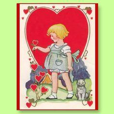 Cute #Vintage #Valentine postcards