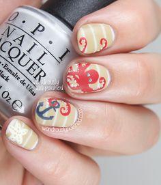 Wondrously Polished: The Beauty Buffs - Nautical/Beach Trend Nail Art