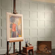 The Best Ways To Have Your Home Improvement Project Progress Quickly. Whether it is making things look better, or if you just want to make a profit, there are lots of things you could get from home improvement projects. Painted Paneling Walls, Wood Paneling, Paneling Ideas, Wall Panelling, Batton And Board, Wall Storage Shelves, Rustic Curtains, Music Decor, Decorative Panels