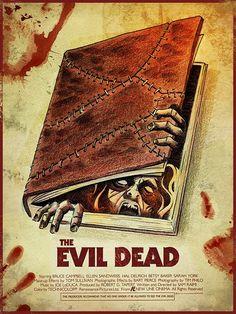 Horror Movie Poster Art : The Evil Dead, 1981, by James White