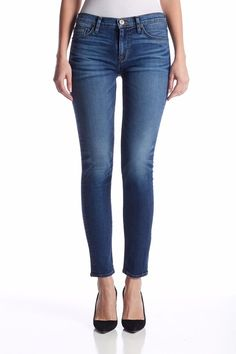 Hudson Nico Midrise Super Skinny in Legion wash sz 26 NWT #HudsonJeans #Skinny