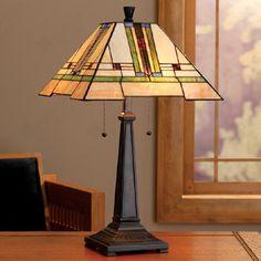Frank Lloyd Wright Arts & Crafts Table Lamp