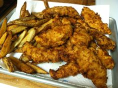 Now you have Homemade Chicken Tenders... I served them with my Handcut French Fries