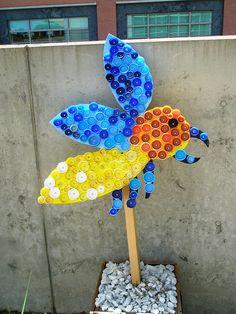 Reuse, Recover, Repurpose, Bottle Cap Bugs and Festive Flowers, Racine Art Museum, Racine, Wisconsin, via Flickr.