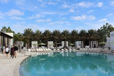 Caliza pool and cabanas are open year-round at Alys Beach. Image: Lisa Mowry