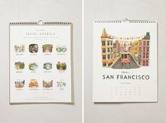 24 Beautiful Wall Calendars for 2014 via Brit + Co. for freeman