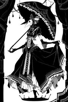 黒い雨 by 書記官鳥ジュエル Creepy Yet Cool, Pest Masks! Arte Horror, Horror Art, Dark Fantasy, Fantasy Art, Gothic Kunst, Plauge Doctor, Goth Art, Art Et Illustration, Creepy Art