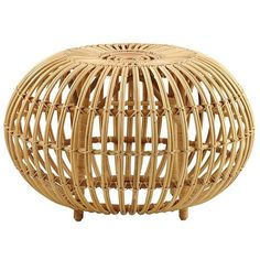Sika Design Albini Ottoman ($510) ❤ liked on Polyvore featuring home, furniture, ottomans, natural, multipurpose furniture, sika, rattan footstool, multi purpose furniture and colored furniture