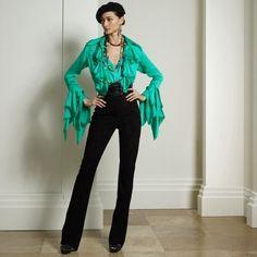 Collection Apparel Tie-Front Silk Carlotta Blouse All The Colors, Jumpsuit, Ralph Lauren, Women's Shirts, Tie, Clothes For Women, Blouses, Collection, Dresses