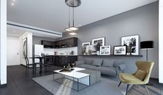 "THIS CONCEPT APARTMENT IN ""BERLIN"" STYLE WAS DESIGNED BY MICHAEL AZOULAY DESIGN STUDIO Home Decor Trends, Loft Interior Design, Rustic Apartment Decor, Luxury Living Room, Apartment Decor, Minimalist Living Room Decor, Living Room Decor Rustic, Living Room Grey, Small Room Design"