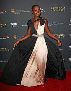 Wearing Lanvin, Lupita steals the show at the BAFTA Los Angeles Britannia Awards.