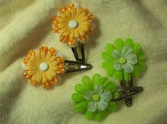 Items similar to Hair Sets of So Adorable Orange and Lime Hair Clips on Etsy 2 Set, Hair Clips, Belly Button Rings, Bobby Pins, Lime, Hair Accessories, Orange, Etsy, Beauty