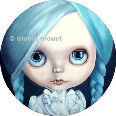 Pastel Goth  Blythe Doll print 14/100  vampire girl by EmmaMount
