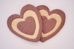 Galletas corazón. Heart cookies.