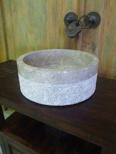 Balinese Marble Stone Bathroom Round Basin Sink Bowl Large 40cm