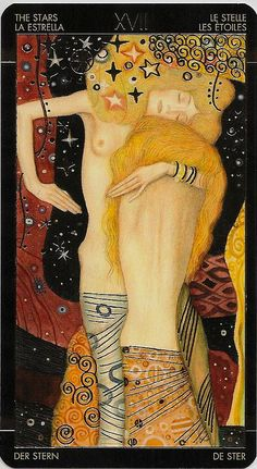 Golden Tarot of Klimt, XVII The Star