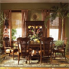 Tropical Dining Rooms Room Interior Style For You
