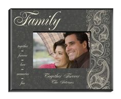 Classic with a touch of contemporary, this grey-toned personalized picture frame with white paisley accents looks great even in the most formal location. Lovingly adorned with appropriate words of friendship written in attractive script, our personalized Pretty Paisley frame is the perfect way to honor a trusted pal or much-loved family member. #frame #heartdeeds #family #cute