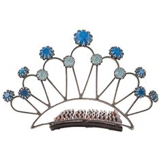Cissy Zoltowska  Unsigned jewelled Tiara/Hair comb, 1960s .   From a unique collection of vintage more jewelry at https://www.1stdibs.com/jewelry/more-jewelry-watches/more-jewelry/