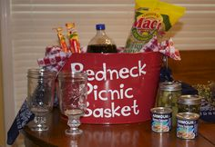 Redneck Picnic Basket      Need a FUNNY gift for this Holiday Season? what about this REDNECK PICNIC BASKET?