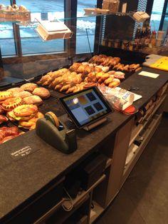 GASTROFIX iPad Kasse links am Tresen bei Bäckerei Meier, Bern