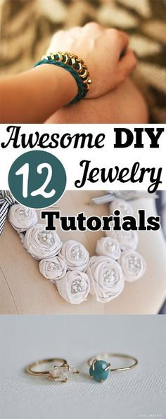 12 Awesome DIY Jewelry Tutorials. DIY, DIY home projects, home décor, home, dream home, DIY. projects, home improvement, inexpensive home improvement, cheap home DIY.