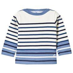 I love this! Alex and Alexa | Petit Bateau Blue and Cream Stripe Tee