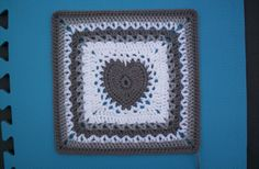 Center Heart Square - free pattern from Ravelry