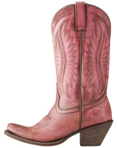 Ariat Women's Pink Circuit Salem Distressed Boots Square
