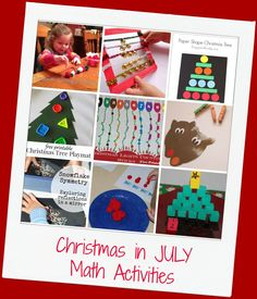 Christmas in JULY Math Activities for Preschool