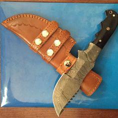 X3us Knives Custom Handmade Damascus Steel Tracker Knife,G10 Micarta, Handle. #X3USKnives