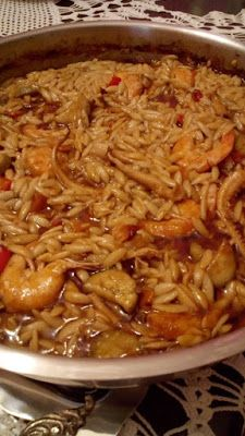 ΜΑΓΕΙΡΙΚΗ ΚΑΙ ΣΥΝΤΑΓΕΣ 2: Γιουβέτσι με γαρίδες και θράψαλα !!! Greek Recipes, Fish Recipes, Recipies, Vegan Recipes, Pasta Noodles, Fish And Seafood, Lasagna, Food And Drink, Tasty