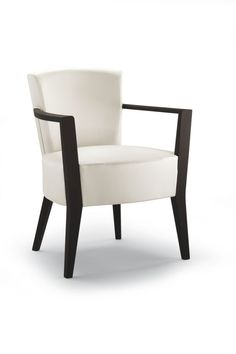 """""""Wiki Fully Upholstered Arm Chair"""". Wiki collection arm chair features a fully upholstered seat and back. The frame is made in beech wood with standard or premium finishes.  Please contact us for pricing (718)363-3097."""