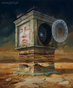 Art Surrealism - Jaroslaw Jasnikowsi - The Dream Levitationa