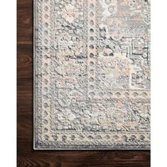 """Loloi Lucia Global Bazaar Light Grey Patterned Rug - 7'9""""x10'6"""" 8'x10' 