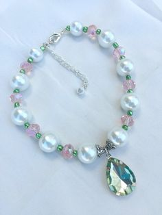 Pet Dog Puppy Jeweled Collar Necklace Pearls by LexingtonBaubles Use the code: PIN10 for 10% off your purchase!