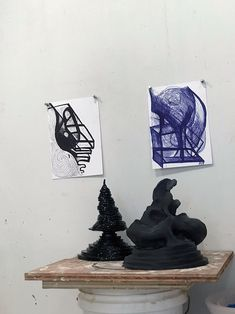 JOANNE GREENBAUM Color Blocking, Bookends, Watercolor, Ceramics, Fall, Home Decor, Contemporary Art, Board, Pen And Wash