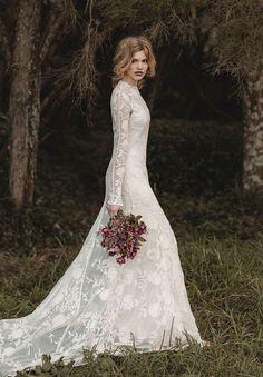 Une robe de mariée bucolique