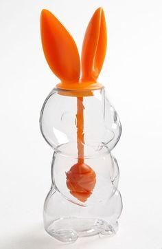 No joke: a honey jar shaped like a bunny. Who needs the bear?