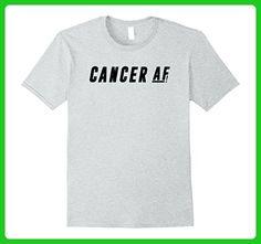 Mens Cancer AF July T-Shirt Birthday Zodiac Astrology Shirt Pride 2XL Heather Grey - Birthday shirts (*Amazon Partner-Link)