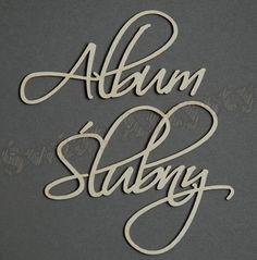 Decor tekturowy - słowa ALBUM ŚLUBNY Świat Artysty