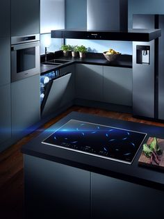 Gold Most Wanted Award winner for 2013, the induction hob from the Panasonic built-in appliance range. Featured in January 2014 Kitchens & Bathrooms News
