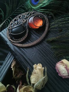 Yin yang necklace Wire wrapped jewelry Witch necklace Magic