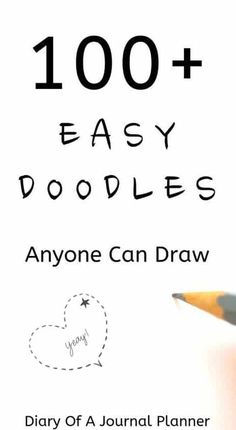 Bullet journal doodles, how to draw in your bullet journal. Easy step by step bujo tutorials for your journal. drawings flowers Ultimate List of Bullet Journal Doodles - 50 FREE Step-by-step Instructions Easy Doodles Drawings, Easy Doodle Art, Doodle Art Drawing, Doodles Zentangles, Doodles How To, Fun Easy Drawings, Things To Doodle, Cute Easy Doodles, Happy Doodles