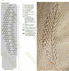 Новости - Her Crochet Knitting Stiches, Knitting Charts, Lace Knitting, Stitch Patterns, Knitting Patterns, Crochet Patterns, Crochet Beanie Pattern, Crochet Hats, Knitting Designs